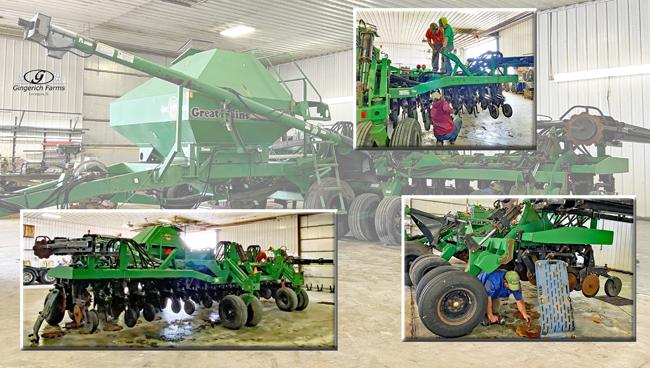 Air seeder at Gingerich Farms