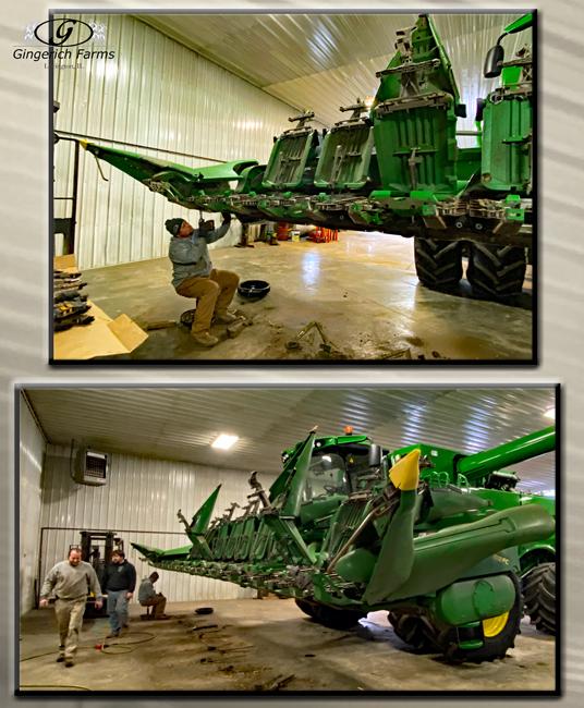 Working on corn head - Gingerich Farms