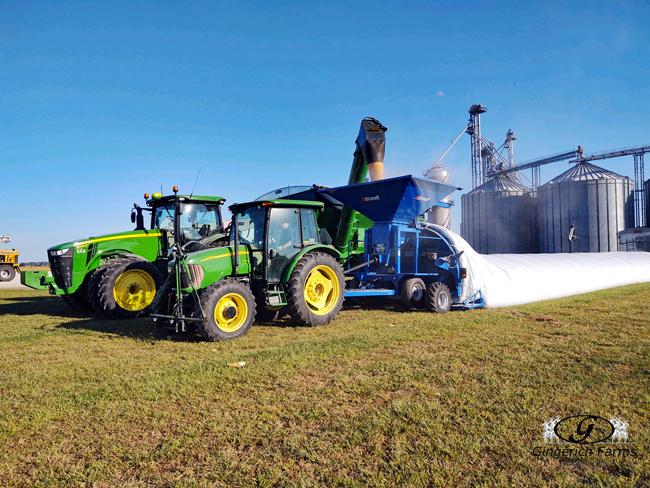 Bagging corn - Gingerich Farms