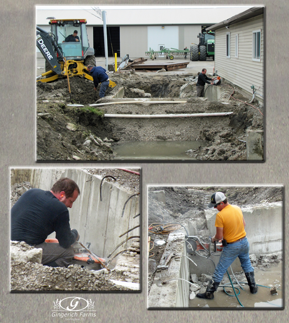 Concrete work at Gingerich Farms